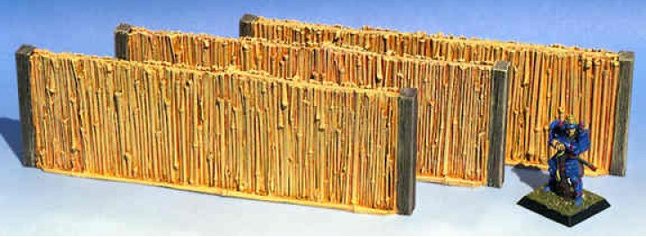 "ACJ005 - Tall Bamboo Walls 6"" Long (3 pcs)"