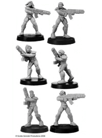 11351 - Prosthene Marines with Gauss Rifles