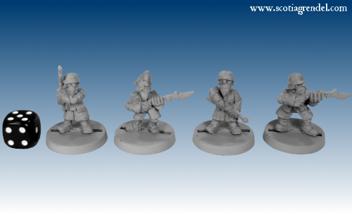GOW3004 - Regulars with Rifles in Greatcoats