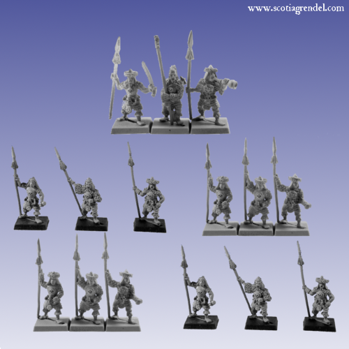 GFRA2015 - Barbarian Spearmen Regiment