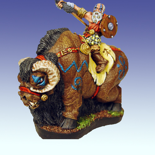 20040 - Pict War Bison with Rider