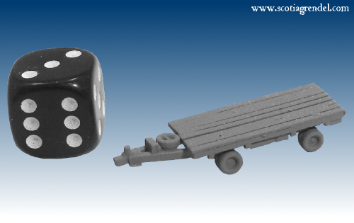 NE031 - Large flatbed trailer front and rear axles.