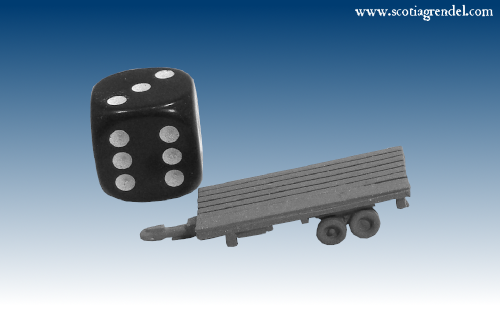 NE032 - Large flatbed trailer rear axles
