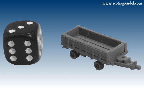 NE033 - Large trailer front and rear axles with sides