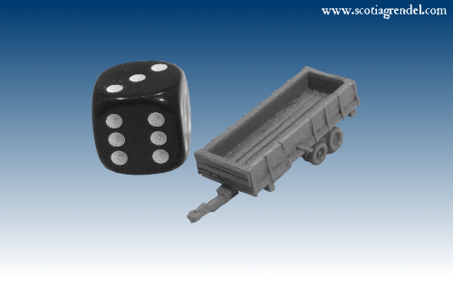 NE034 - Large trailer rear axles with sides