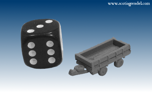 NE037 - Medium trailer front and rear axles with sides