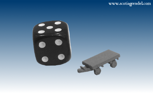 NE039 - Small flatbed trailer front and rear axles