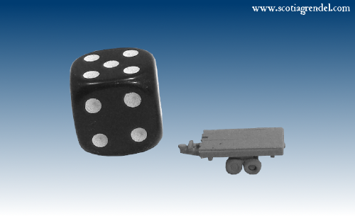 NE040 - Small flatbed trailer centre axles
