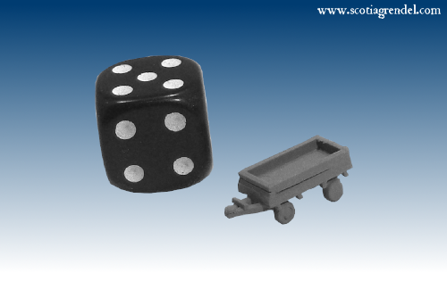 NE041 - Small trailer front and rear axles with sides