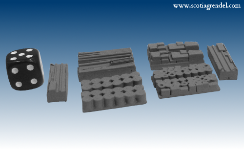 NE045 - Large trailer cargo block or supply dump items (10)