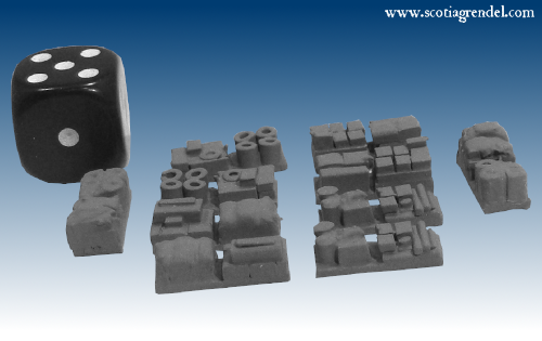NE048 - Medium trailer cargo block or supply dump items (10)