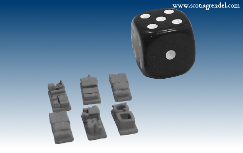 NE050 - Small trailer cargo block or supply dump items (8)