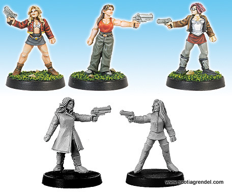 13003 - Militia Females with Pistols