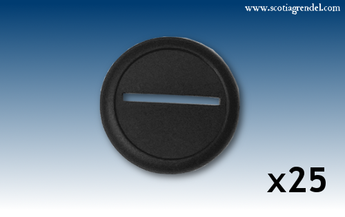 ACR90 - 25x 40mm Round Slotta Bases with Curved Lip